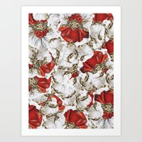 roman Art Prints featuring Roman Collage by Eleaxart