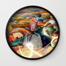 Budha in the Realm of Color Wall Clock