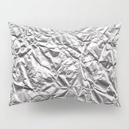 Silver Paper Pillow Sham