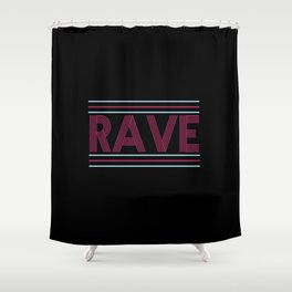 rave prism logo Shower Curtain
