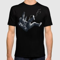 Astronaut - Death By Black Hole MEDIUM Mens Fitted Tee Black