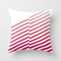 bands Throw Pillows featuring Red Bands by blacknote