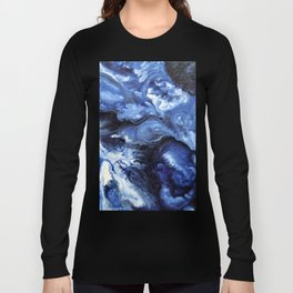 Swirling Blue Waters II - Painting Long Sleeve T-shirt