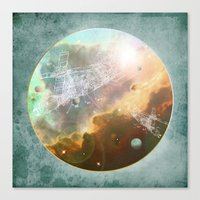 outer space Canvas Prints featuring Outer Space by Katie Micks