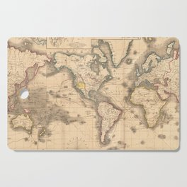 Vintage Map of the World (1850) Cutting Board