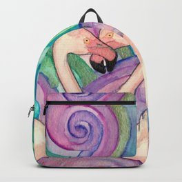 Flamingos in Love Backpack