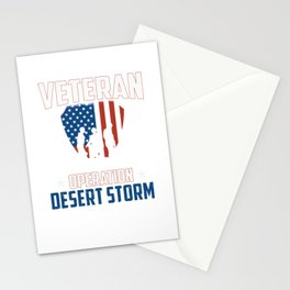 Veteran Operation Desert Storm Persian Gulf War Stationery Cards