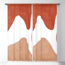 Terracotta Art Print 7 - Terracotta Abstract - Modern, Minimal, Contemporary Print - Burnt Orange Blackout Curtain