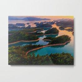 Quinn Dao Lake, China at Sunrise Metal Print