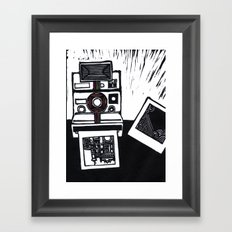 I dream in Polaroid  Framed Art Print