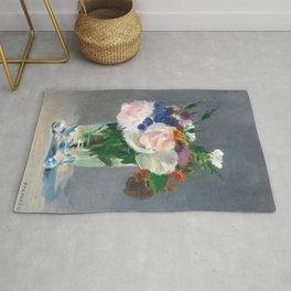 "Édouard Manet ""Flowers in a Crystal Vase"" Rug"