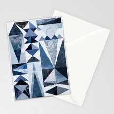 Blue Shapes Stationery Cards