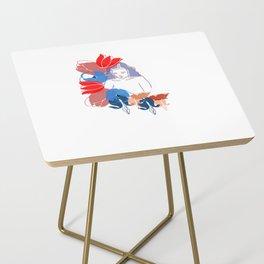 Woman In Flowers Side Table