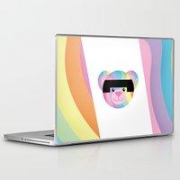 bondage Laptop & iPad Skins featuring Classic Rainbow Bondage Bear by YOSH FRIDAY