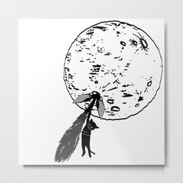 Wrong Way Witch Metal Print