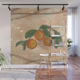 Orange Friends Wall Mural