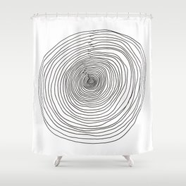 Concentric Circles Shower Curtain