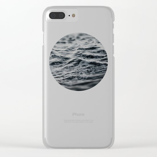 Ocean Magic Black and White Waves Clear iPhone Case