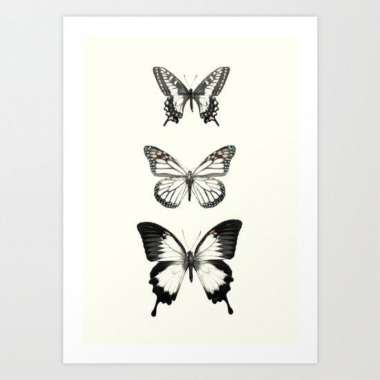 Butterflies // Align Art Print