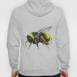 Bumblebee, minimalist bee honey making art, design black yellow Hoody