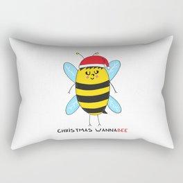 Christmas WannaBEE Rectangular Pillow