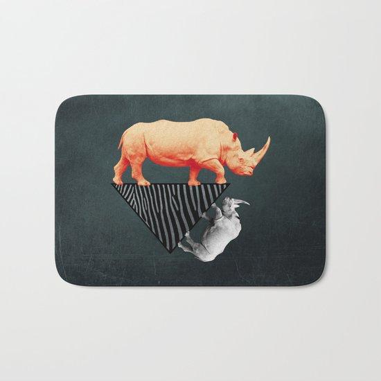 The orange rhinoceros who wanted to become a zebra Bath Mat