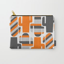 Modern striped cacti Carry-All Pouch