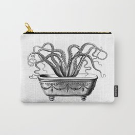 Tentacles in the Tub | Octopus | Black and White Carry-All Pouch