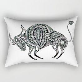 Ornate Bull Rectangular Pillow