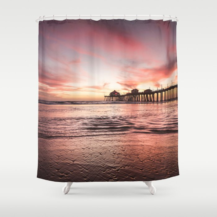 HB Sunsets 12-22-18 Shower Curtain