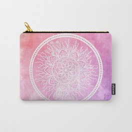 Watercolor Nature Mandala Carry-All Pouch