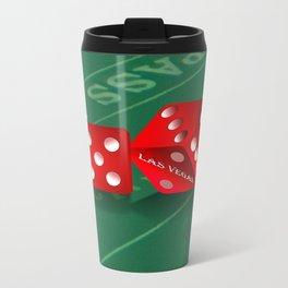 Craps Table & Red Las Vegas Dice Metal Travel Mug