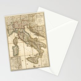 Map of Italy (1851) Stationery Cards
