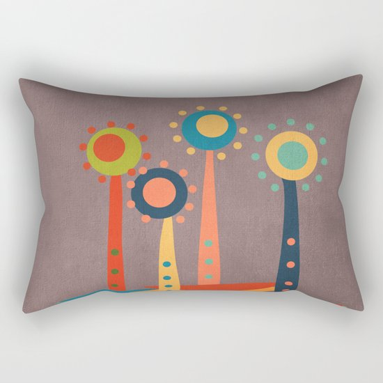 Colors and flowers 3 Rectangular Pillow