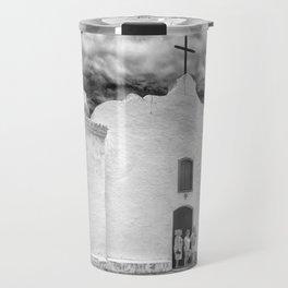 Church Black and White Travel Mug