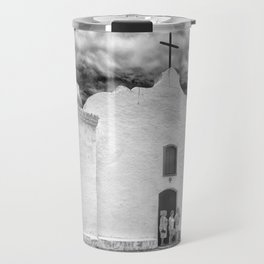 Church Black and White Travel Mug
