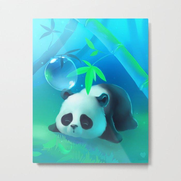 Bamboo Panda Metal Print By Apofiss Society6