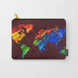 World Map 12 Carry-All Pouch