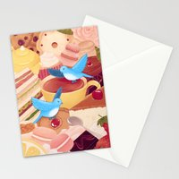 Tea Time Poesy Stationery Cards