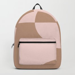 Sand Storm Beige Pastel Pink Circle Design 2 2021 Color of the Year Canyon Dusk Cupcake Pink Backpack