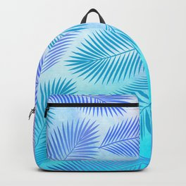 Feathers on Watercolor Background Backpack