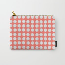 Milk Glass Polka Dots Living Coral Carry-All Pouch