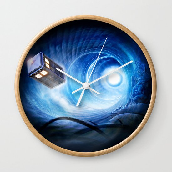 doctor who wall clock by joe roberts society6. Black Bedroom Furniture Sets. Home Design Ideas