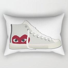 Commes Des Garcons x Converse White High Top Rectangular Pillow