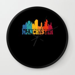 Manchester Retro Skyline UK Wall Clock