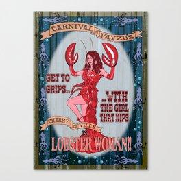 Lobster Girl Canvas Print