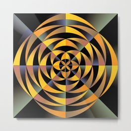 Tigerlike geometric design Metal Print