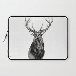Bull Elk Encounter Laptop Sleeve