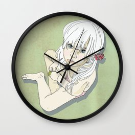 Pouting Leaf Wall Clock