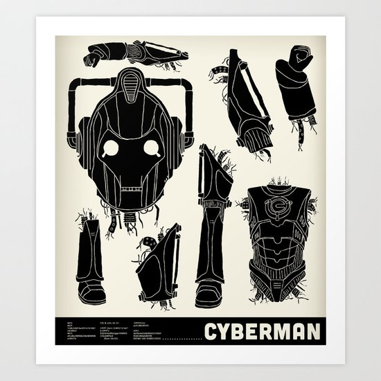 Decommissioned: Cyberman Art Print